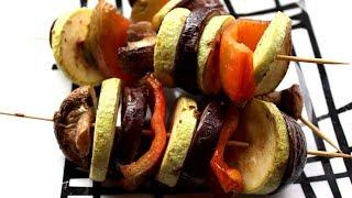 Овощной шашлык в духовке! Полезная еда!