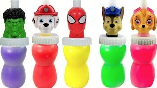 Fun with Slime Surprises and Colors with Paw Patrol and Superheroes