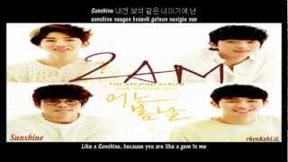 2AM - Sunshine [2nd Album - One Spring Day] [English Sub + Romanization + Hangul Lyrics]
