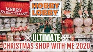🎄HOBBY LOBBY CHRISTMAS SHOP WITH ME 2020   FARMHOUSE CHRISTMAS DECORATING IDEAS 2020