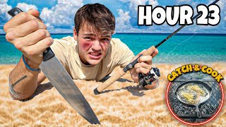 SURVIVAL CHALLENGE on REMOTE ISLAND for 24 HOURS!! (crazy)