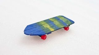 How To Create A Cool Tech Deck From Popsicle Sticks - DIY Crafts Tutorial - Guidecentral