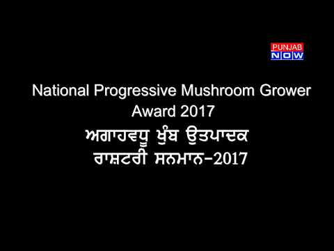 National award 2017 to Randhawa Mushroom Farm