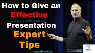 Presentation Expert tips | Effective Communication skills | ideas