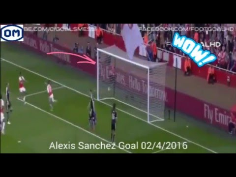 Alexis Sanchez Amazing Goal ~ Arsenal vs Watford 1-0 ~ 02/4/2016]