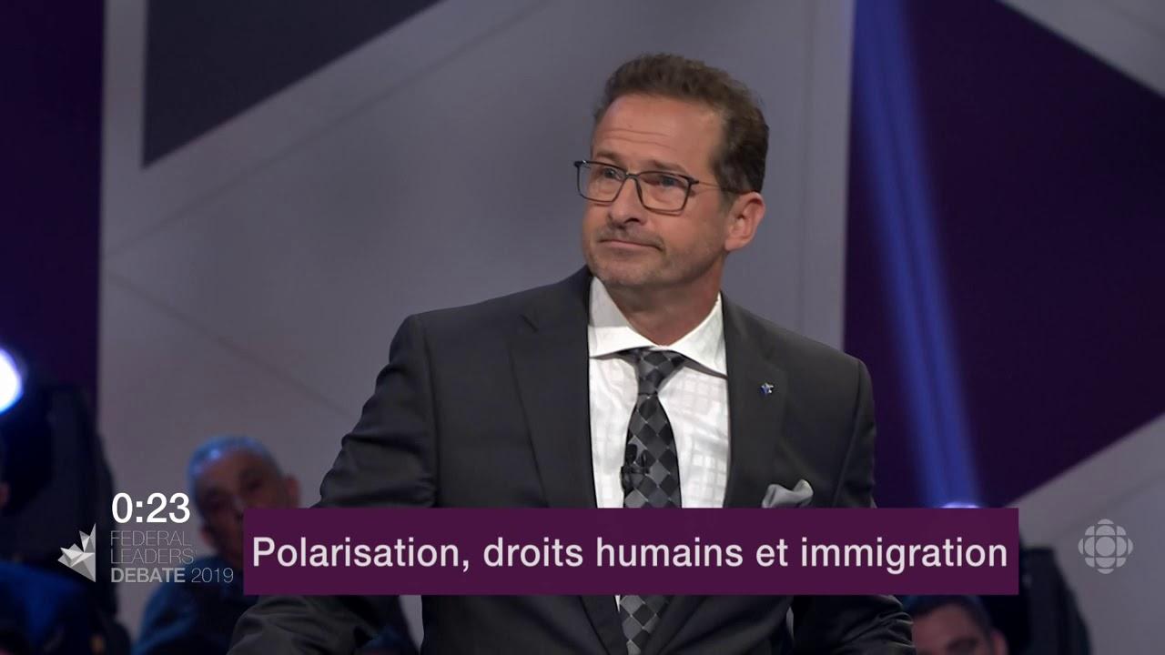 Yves-François Blanchet répond à la question d'un citoyen sur les divisions au Canada