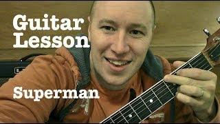 Superman  Guitar Lesson  Joe Brooks  (Todd Downing)