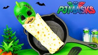 Whats Inside the Spooky Burrito with PJ Masks Playdoh Surprises