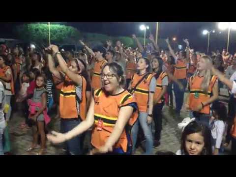Adoração na praça de Caldeirão Grande   Impacto Sertão Livre 2008