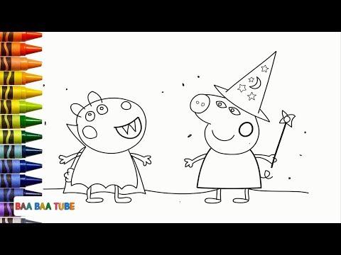 How To Draw Halloween Peppa Pig