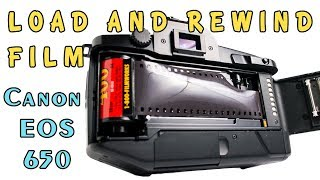 Loading And Changing ISO Film In A Canon EOS 650 Film Camera