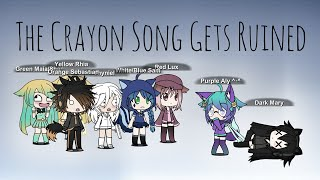The Crayon Song Gets Ruined // Gachaverse Parody // Aly Gacha