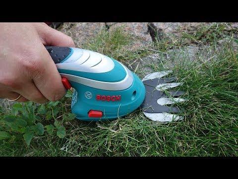 Тестируем аккумуляторные ножницы для травы и кустов Bosch ISIO