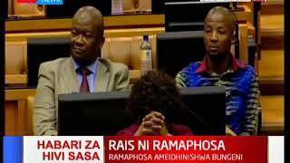 Naibu wa awali wa aliyekuwa rais Jacob Zuma wa Afrika kusini Cyril Ramaphosa ateuliwa kuwa rais