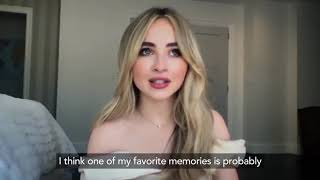 "Sabrina Carpenter talks about Disney+'s original movie ""Clouds"""