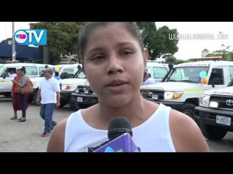 Gobierno Sandinista entrega 09 ambulancias para el departamento de Masaya