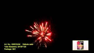 """Салют COLORFULL WORLD RED GW218-94 Выстрелов: 12; Высота: до 25м; Время: 16сек Видео. от компании Круглосуточный магазин фейерверков """"Кайман"""" Крым - видео"""