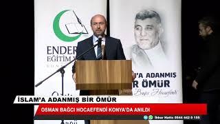 Osman Bağcı Hocaefendi anıldı