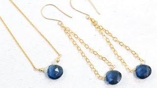 DIY: Gemstone, Wire & Chain Earrings - Jewelry Making Tutorial (Jewellery Making)