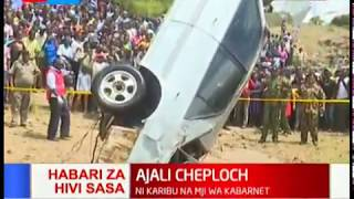 Car that plunged into Kerio River retrieved