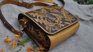 Handmade handbags and clutches by Kazakhsha Leather Art Studio