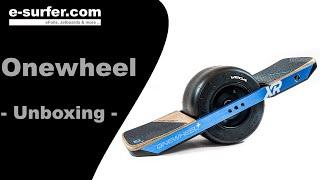 Onewheel+ Unboxing (deutsch) und erste Fahrversuche