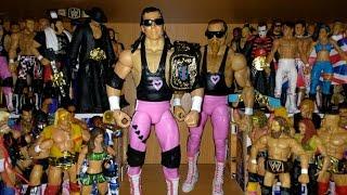 Hart Foundation (Bret Hitman Hart & Jim Anvil Neidhart) Elite 43 - WWE Mattel Figure Review Unboxing