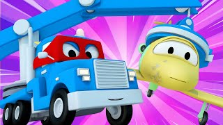 Truck videos for kids -  The MAGNET CRANE TRUCK - Super Truck in Car City !