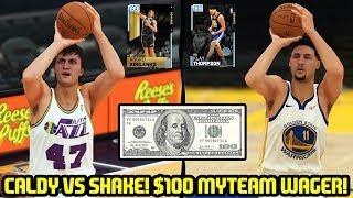 $100 GODSQUAD WAGER VS SHAKE4NDBAKE! HE HAS KIRILENKO! NBA 2K19 MYTEAM GAMEPLAY