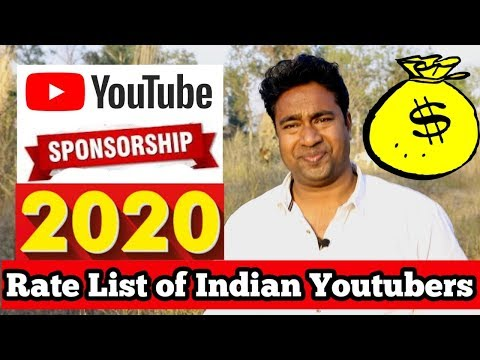 How to get Sponsorship for Small Channels pro tips & Price Rate list 2020