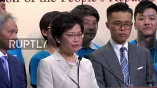 Hong Kong: New chief executive Lam vows to 'heal the divide' after election win