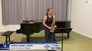 Patricija BLOMA plays Breath etude by G. Shapiro #adolphesax