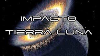 Simulación - Colisión Luna-Tierra