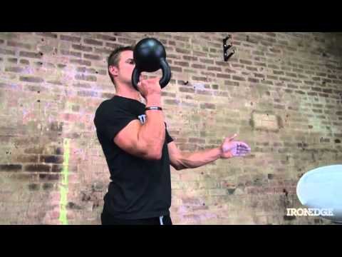 Kettlebell Double Bottoms-Up overhead Strict Press