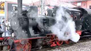 preview picture of video 'Historische Dampflok aus dem Jahr 1913 in Holzkirchen - Bayern'