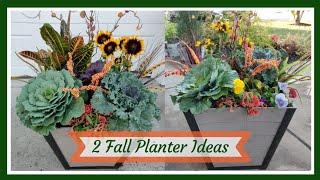 Planting 2 Fall Planters🍂🍁🌾 || Planter Ideas || Kreatyve Laydiiee