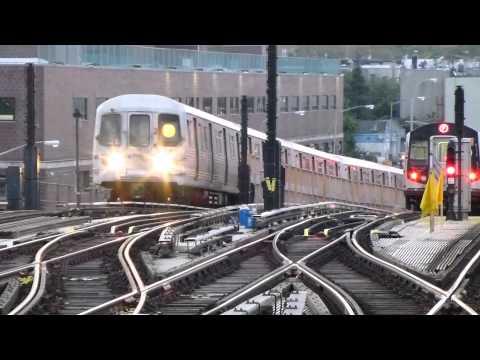 IND Culver Line: R68A G Train & R160A-2 & R46 F Trains at Ditmas Ave-McDonald Ave