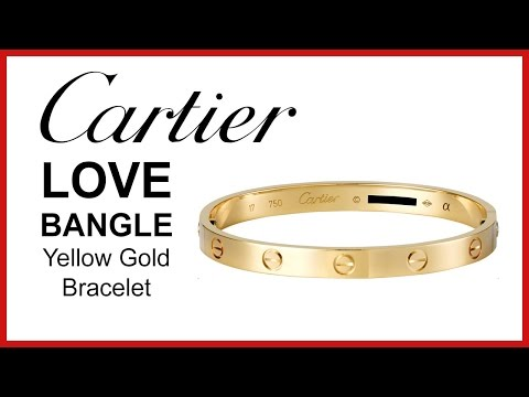 Cartier Love Bracelet, UNBOXING & REVIEW – Yellow Gold, Ladies Bangle, B6036017