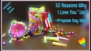 52 Reasons Why I Love You Jar | Propose Day Idea | Valentines Week | Valentines Day