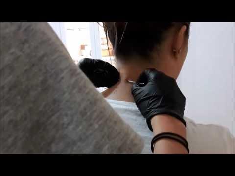 Lezioni video di massaggio di un collo a osteochondrosis