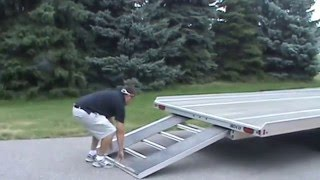 Aluma 8624 Snowmobile Trailer Rear Ramp