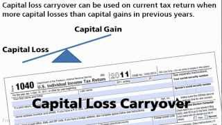 Capital Loss Carryover On Your Taxes