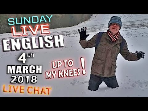 LIVE ENGLISH - 4th March 2018 - Movies - Snow - Grammar - Mr Duncan - Live Chat - OSCARS