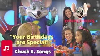 Your Birthdays Are Special | Chuck E. Cheese Birthday Song For Kids