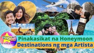 Pinakasikat Na Honeymoon Destinations Ng Mga Artista | Sarah Geronimo, Anne Curtis, Marian Rivera