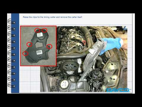 Фото к видео: Timing kit installation Volvo XC70 2.4 Diesel – Engine: D5244T4