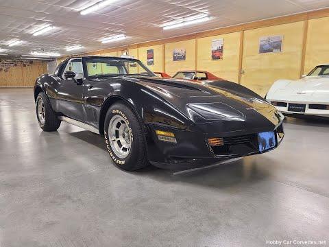 1981 Black Corvette Silver Interior 47K Miles 4spd T Top Video