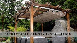 Retractable Pergola Canopy Installation - OLT