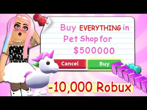 Buying EVERYTHING My Pet Touches In The Brand NEW Adopt Me Update