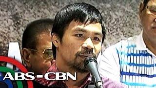 TV Patrol: Pacman, 'dinugo' habang nasa motorcade